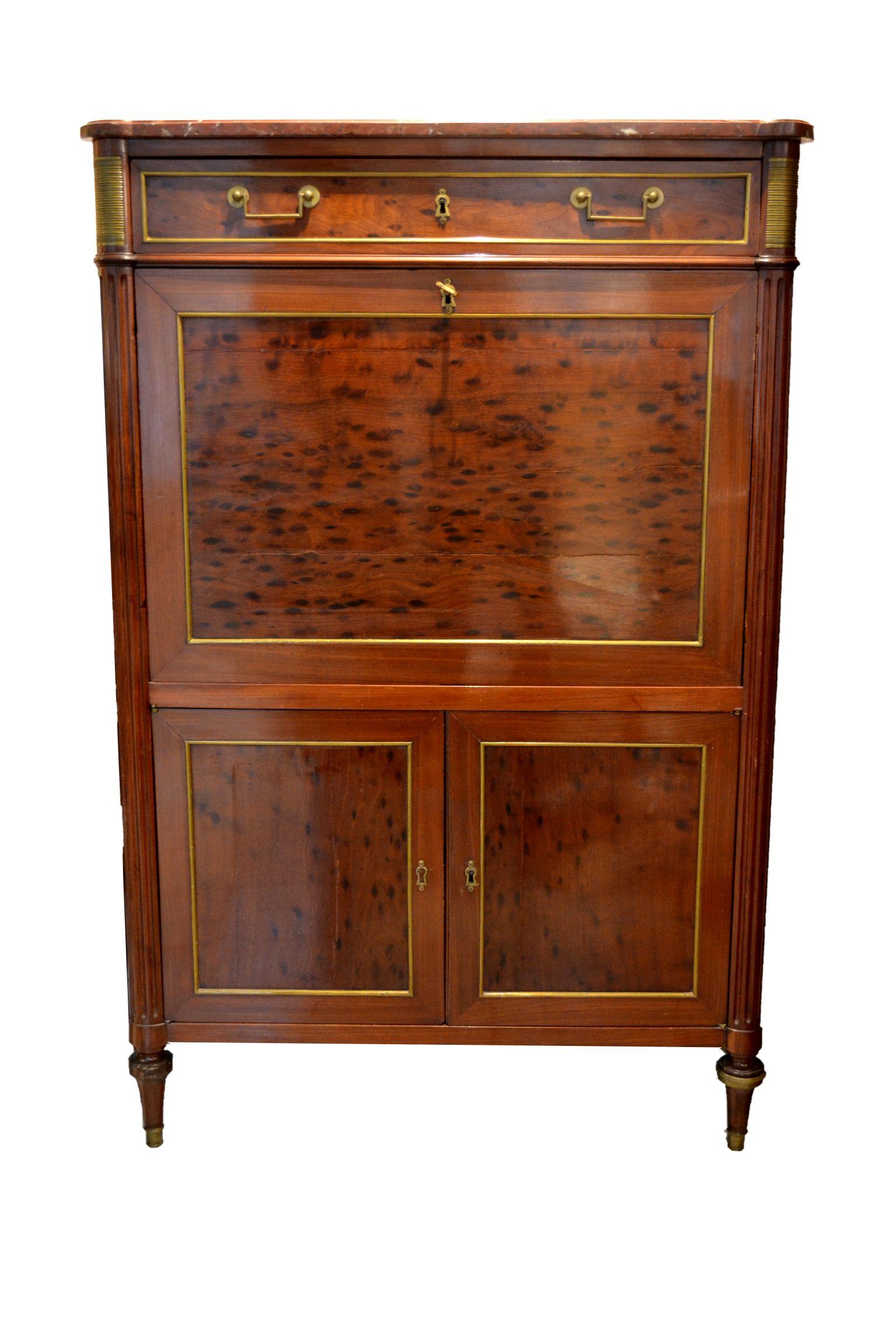secr taire droit abattant louis xvi directoire fin xviii me rapha l 39 s fine art valuer. Black Bedroom Furniture Sets. Home Design Ideas